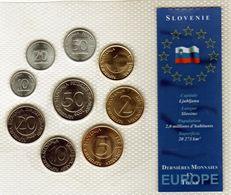 Monnaies De Slovénie Dernières Monnaies En Tolar Sous Blister En FDC - 1993.2000.2004.2005.2006 - Slovénie