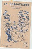( GEO1) LA  GERGOVIENNE , Bourrée D' Auvergne , Pub Salon De L'auto 1936, Accessoires Auto - Partitions Musicales Anciennes