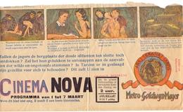 Ciné  Bioscoop Programma Programme Cinema Nova - Tarzan - Publicité Cinématographique