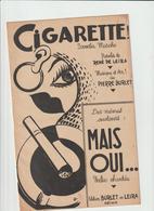 ( GEO1) CIGARETTE , Samba-marche , Paroles RENE DE LEIRA , Musique PIERRE BURLET - Partitions Musicales Anciennes