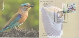 India  2018  Birds  Indian Roller  Palapitta  State Bird Of Telangana  Special Cover  # 17534  D  Inde Indian - Songbirds & Tree Dwellers