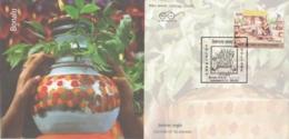 India  2018  Hinduism  Goddess Mahankali   Bonalu  Bhojanam Pots  Telangana  Special Cover  # 17537  D  Inde Indian - Hinduism