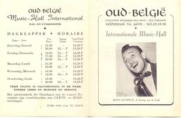 Music Hall - Oud Belgie Gent - Programma Boyd Bachman - 1953 - Programmes