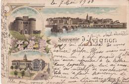 Souvenir D'AVIGNON  - Carte Timbrée Du 7 Mai 1900 - Avignon