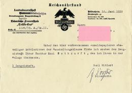 """HILDESHEIM - 1939 , Landesbauernschaft Niedersachsen , Frauenschule """"Trillke-Gut"""" , Reichsnährstand-Formular - Historical Documents"""