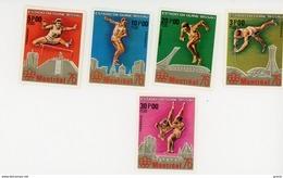 GUINEE BISSAU-1976-JO Montreal-lutte,atlétismeYT 37/42***MNH - Sommer 1976: Montreal