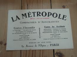 Buvard LA METROPOLE PARIS - Banque & Assurance