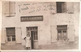 Superbe Carte Photo Commerce Boulangerie à Localiser (Probablement Région Lyonnaise) - Da Identificare
