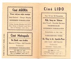 Ciné  Bioscoop Programma Cinema Lido - Agora - Metropole - Gent - Programmes