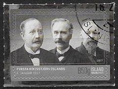 Islande 2017 Timbre  Oblitéré Centenaire Du Premier Gouvernement - 1944-... Republik