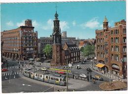 Amsterdam: TRAM, DAF DAFFODIL, BMW 1500, RENAULT 4CV, MERCEDES W114/115 TAXI - 'GENERAL MOTORS' Building - Muntplein - Toerisme
