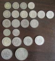Suisse - Lot De 22 Monnaies 5 Cts à 5 Francs Dont Argent - 1850 à 1989 - TB à TTB / SUP - Suisse