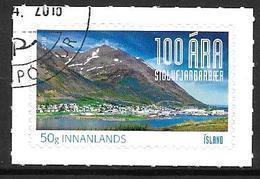 Islande 2018 Timbre Oblitéré Centenaire De Siglufjordur - 1944-... Republik