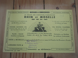Buvard RHIN Et MOSELLE, Cachet ORLEANS Année 1938 - Banque & Assurance
