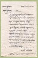 """LANGRES  (52) : """" COMITE DE DEFENSE AUX BLESSES - 1871 """" - Documents Historiques"""