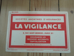 Buvard  LA VIGILANCE PARIS (9°) - Banque & Assurance