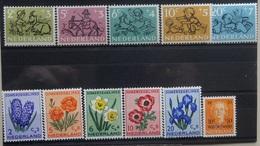 NEDERLAND  1952   Nr. 596 - 600 / 601 / 602 - 606    Spoor Van Scharnier *     CW  38,00 /  NVPH 2017 - 1949-1980 (Juliana)
