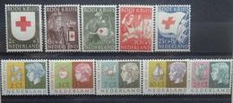 NEDERLAND  1953   Nr.  607 - 611 /  612 - 616     Scharnier *     CW  36,00 /  NVPH 2017 - 1949-1980 (Juliana)