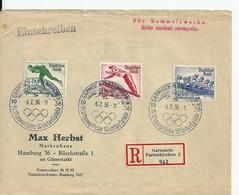 Lettre Recommandée Garmisch-Partenkirchen /Reich Allemand: Jeux Olympiques à Berlin , 1936 - Allemagne