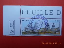 FRANCE 2019    DINAN (France)  DINAND (Belgique)  Beau Cachet  Rond Sur Timbre Neuf  Coin De Feuille - Frankreich