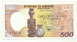 Camerun - 500 Francs 1990 - Cameroun