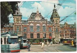 Amsterdam: 2x TRAM 'Osdorp' & 'Sloterveer', DAF GVB AUTOBUS - Centraal Station - (Holland) - Toerisme