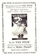 Ciné  Bioscoop Cinema Van Eyck Brugge - Pub Reclame Film Koko Flanel - Urbanus - - Publicité Cinématographique