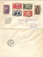 CAMEROUN 153 à 158 (o) Cover Lettre De DOUALA Du 14 Septembre 1938 Exposition Internationale De Paris 1937 - Cameroun (1915-1959)