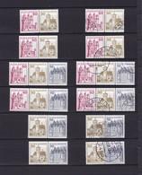 BRD  - 1977 - Zusammendrucke - Michel Nr. W57/W61 I - Ungebr./Gest. - 27 Euro - BRD