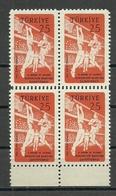 Turkey; 1959 11th European&Mediterranean Basketball Championship Double Perf. ERROR - 1921-... République