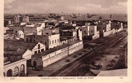 MAROC - CASABLANCA - PANORAMA VERS LE PORT - Casablanca