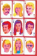 ATLANTA JEU 54 CARTES POP ART 1968 JOHNNY HALLYDAY SYLVIE VARTAN SHEILA FRANCOISE HARDY JACQUES DUTRONC CLAUDE FRANCOIS - 54 Cartes