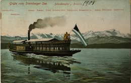 Gruss Vom Starberger See - Salondampfer Bavaria 1908 - Starnberg