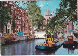 Amsterdam: VW T1 KOMBI-BUS & VW T1-BUS - Boats/Ships - Geldersekade - (Holland) - Toerisme