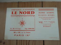 Buvard Compagnies D'Assurances LE NORD PARIS IX°. - Banque & Assurance