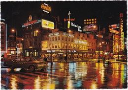 Amsterdam: CHRYSLER NEW YORKER '60 - Leidseplein - Café-Rest. 'Moderne', Neon: 'Coca-Cola','Heineken','Chief Whip' Etc. - Toerisme