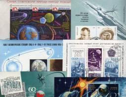 Raumfahrt 17 Verschiedene Blocks Sowjetunion **/o 50€ Bloque Hb Sheets Airplaines Blocs Space Sheetlets Bf UdSSR SU - Timbres