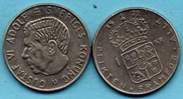 SUEDE / SWEDEN  1 KRONA 1972 - Suède
