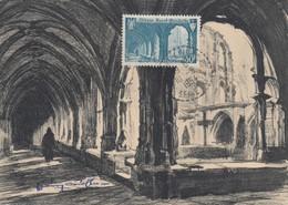 CARTE MAXIMUM N° 888 ABBAYE DE ST-WANDRILLE - Cartes-Maximum