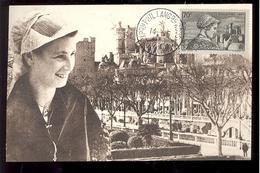 CARTE MAXIMUM - 1 ère EXPOSITION PHILATÉLIQUE LANGUEDOC-ROUSSILLON À NARBONNE - 9 AU 14 MAI 1953 - Cartes-Maximum