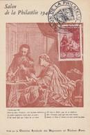 CARTE MAXIMUM N° 753 MUSEE POSTAL. SALON PHILATELIE PARIS - Cartes-Maximum