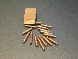 Boîte De Cartouches Mauser + 15 Douilles Neutralisées Ww2 - Armes Neutralisées