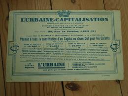 Buvard  L'Urbaine-capitalisation PARIS (IX°) - Banque & Assurance