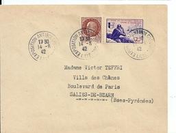 Lettre De L'Exposition  Antibolchevique Avec Timbre LVF , 1942 - France