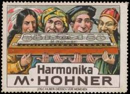Reklamemarke: Harmonika - Mundharmonika - Erinnophilie