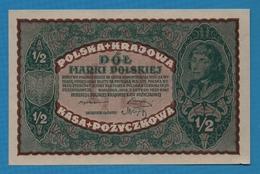 POLAND ½ Marki Polskiej07.02.1920 P# 30  Polska Krajowa Kasa Pożyczkowa - Polonia