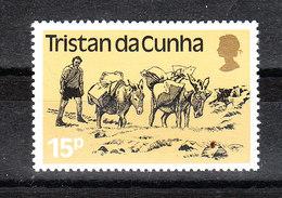 Tristan Da Cunha - 1983. Asini Con Basto. Donkeys With Load.  MNH - Asini