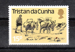 Tristan Da Cunha - 1983. Asini Con Basto. Donkeys With Load.  MNH - Esel