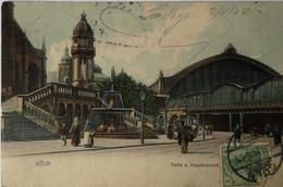 Koln // Partie Am Hauptbahnhof 1904 - Koeln