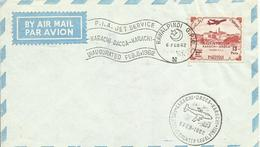 PAKISTAN, SOBRE CONMEMORATIVO SELLO AEREO AÑO 1962 - Pakistan